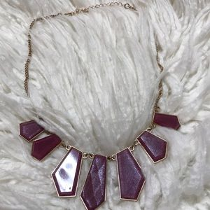 Iridescent purple and gold necklace